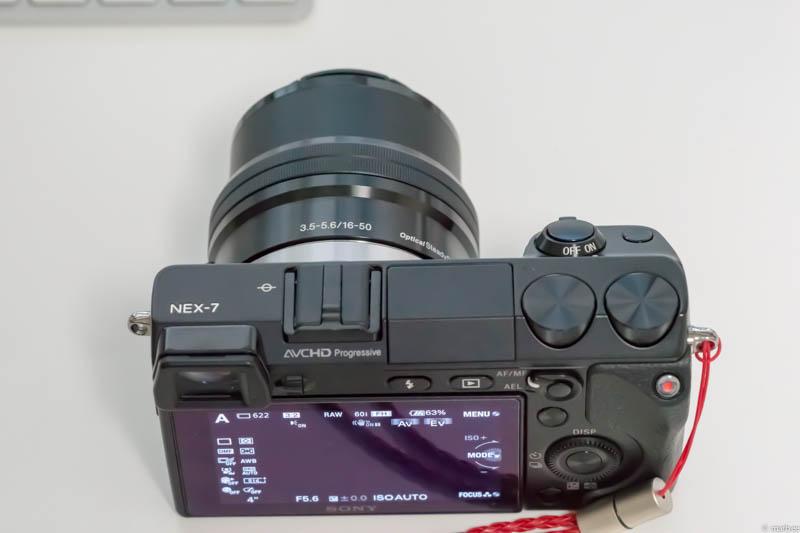 E PZ 16-50mm F3.5-5.6 OSS(上面撮影時)