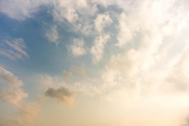 大さん橋 夕焼けの空