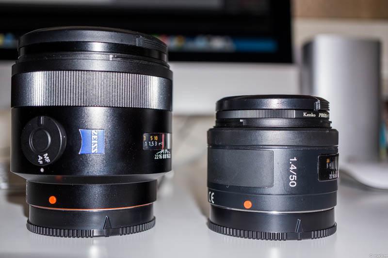 Zeissと無印 2本の50mmF1.4