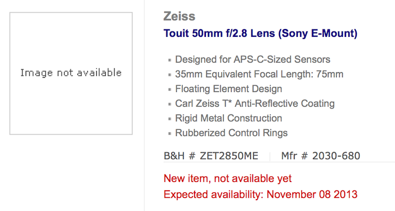 Zeiss Touit 50mm f:2.8 macro