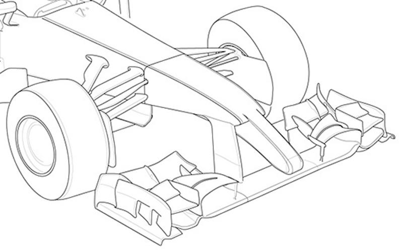 2013年F1マシン フロントノーズ予想図