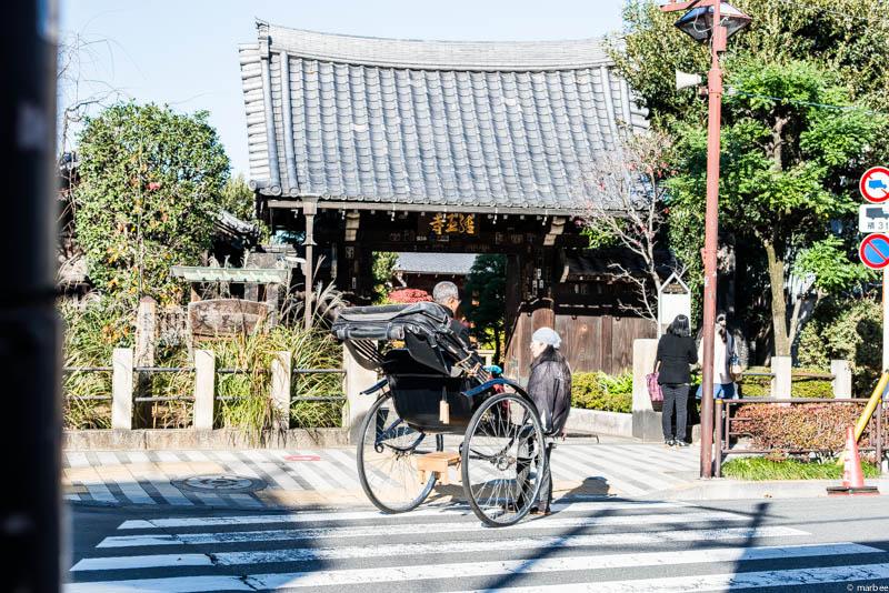 金玉寺と人力車