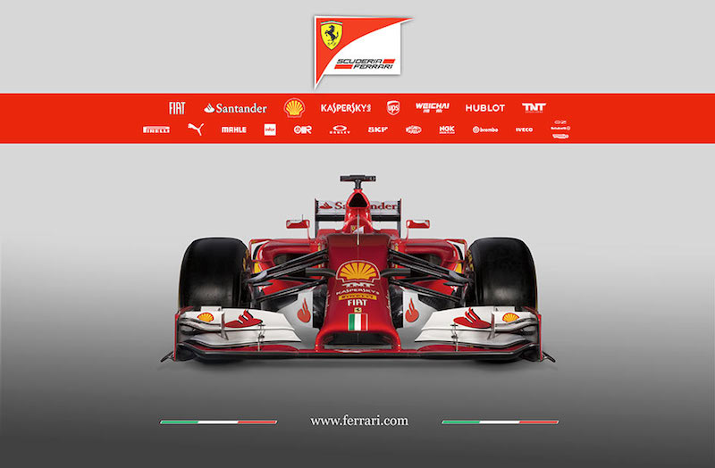 フェラーリ F14T 前面