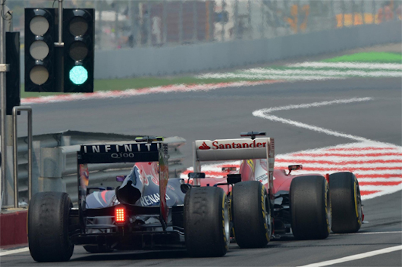 F1 2014 予選 Q3 専用タイヤ
