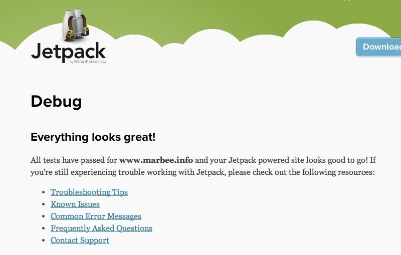 jetpackデバッガ正常画面
