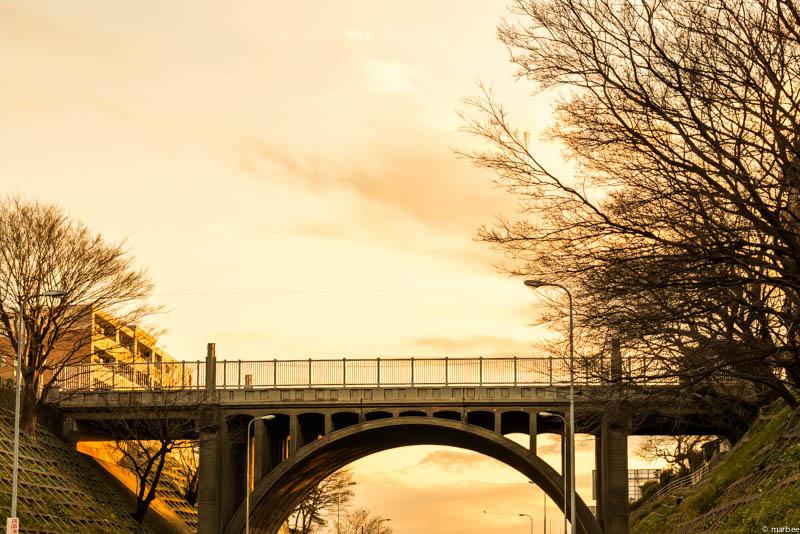 響橋の夕焼け