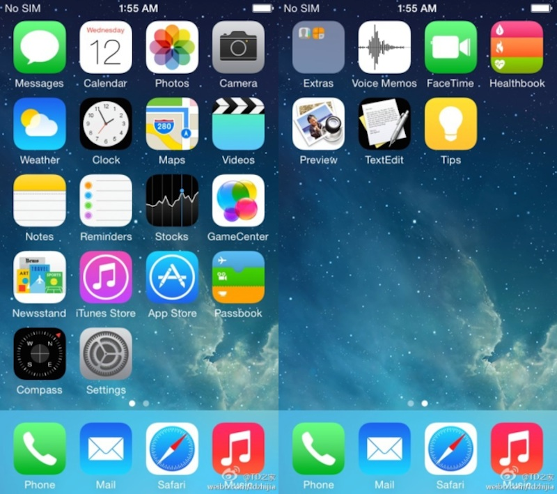 iOS8スクリーンショット
