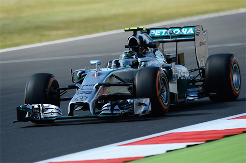 F1イギリスGP フリー走行1回目:ニコ・ロズベルグがトップタイム