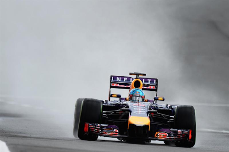 F1イギリスGP フリー走行3回目:セバスチャン・ベッテルがトップタイム