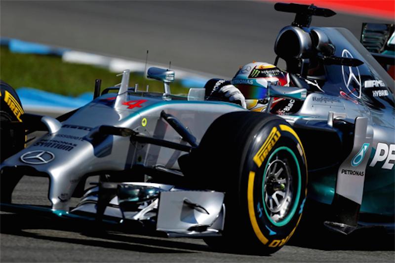 F1ドイツGP フリー走行2回目:ルイス・ハミルトンがトップタイム