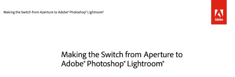 Aperture Lightroom 移行ガイド