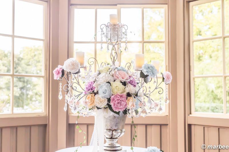 写真 ハロウィーン サンルームに燭台