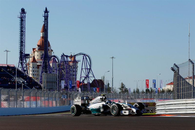 F1ロシアGP フリー走行1回目:ニコ・ロズベルグがトップタイム