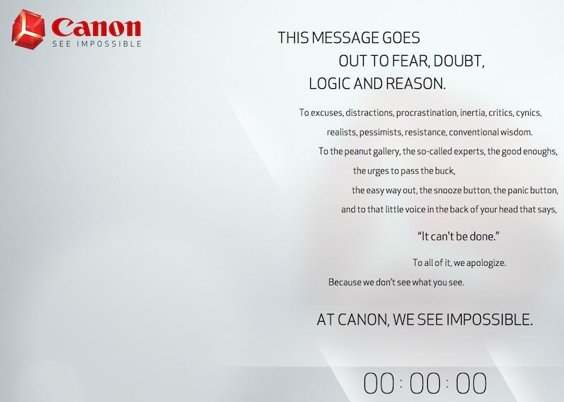 Canon 謎のテザーサイト カウント・ゼロでも変化なし