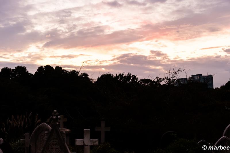 山手外国人墓地 静かな夕暮れ