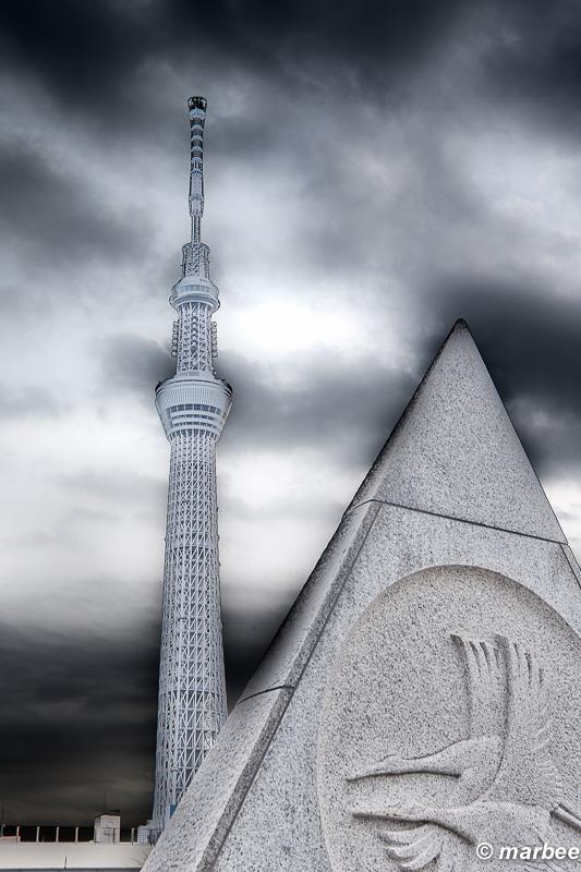東京スカイツリー 現像でイジり過ぎ