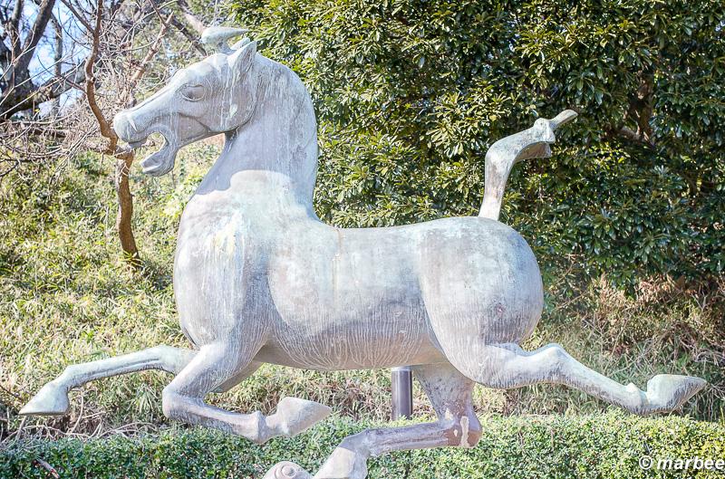 馬の石像 韓国からの友好の証