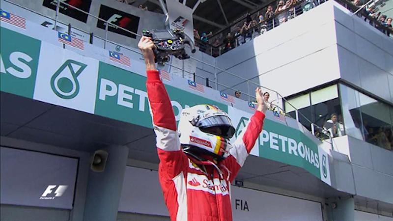 F1マレーシアGP 結果:セバスチャン・ベッテルが優勝!