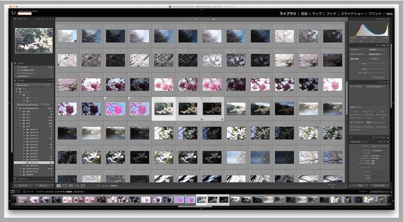 HDR合成する写真を複数選択