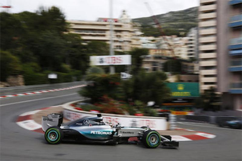 F1モナコGP フリー走行1回目:ルイス・ハミルトンがトップタイム