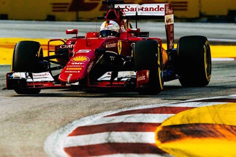 F1シンガポールGP 予選:セバスチャン・ベッテルが今季初ポール!