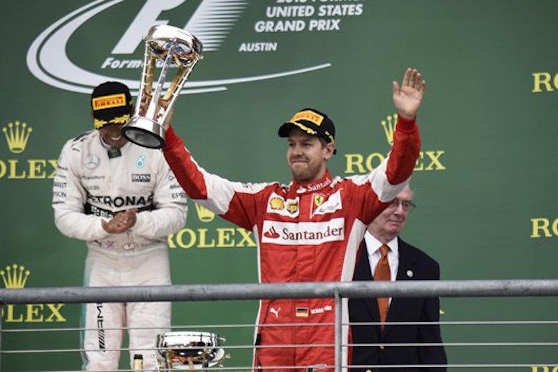 フェラーリ:セバスチャン・ベッテルが3位表彰台