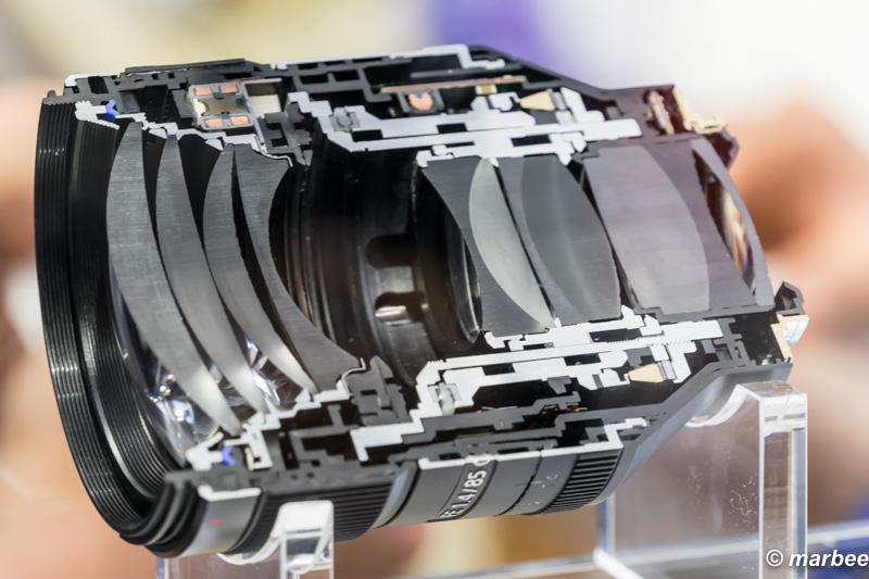 FE 85mm F1.4 GM(SEL85F14GM) カットモデル