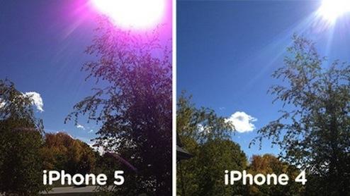 iPhone5カメラ紫問題