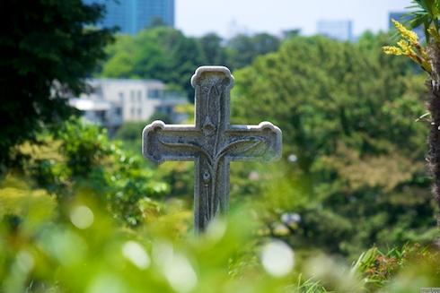 外人墓地の墓