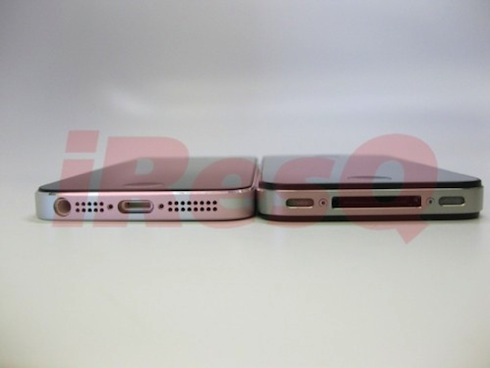 iPhone5と4Sの薄さの比較画像